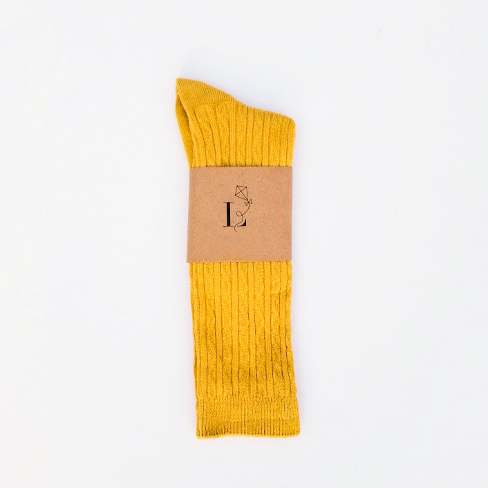 Canterbury Knee Socks - Mustard