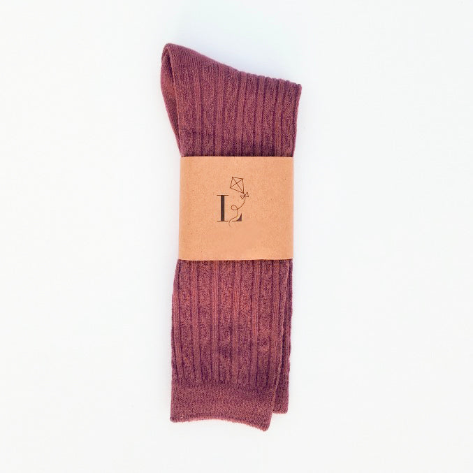 Canterbury Knee Socks - Plum