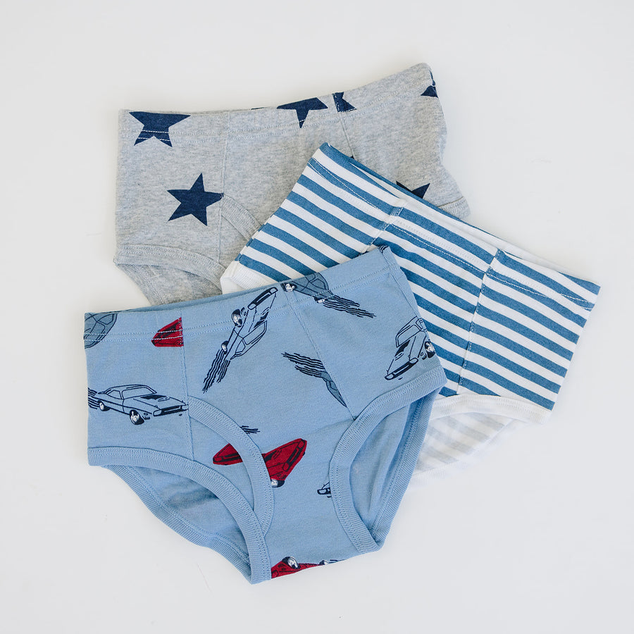 Boys 3-pack underwear - Stars, Stripes and Cars