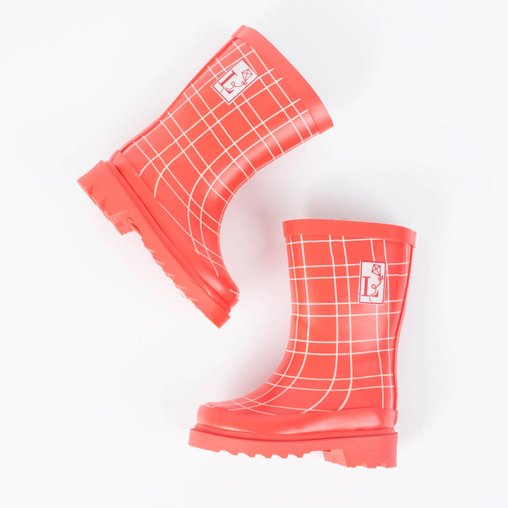 King's Cross Red Rain Boot