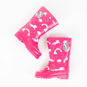 Unicorn Pink Rain Boot