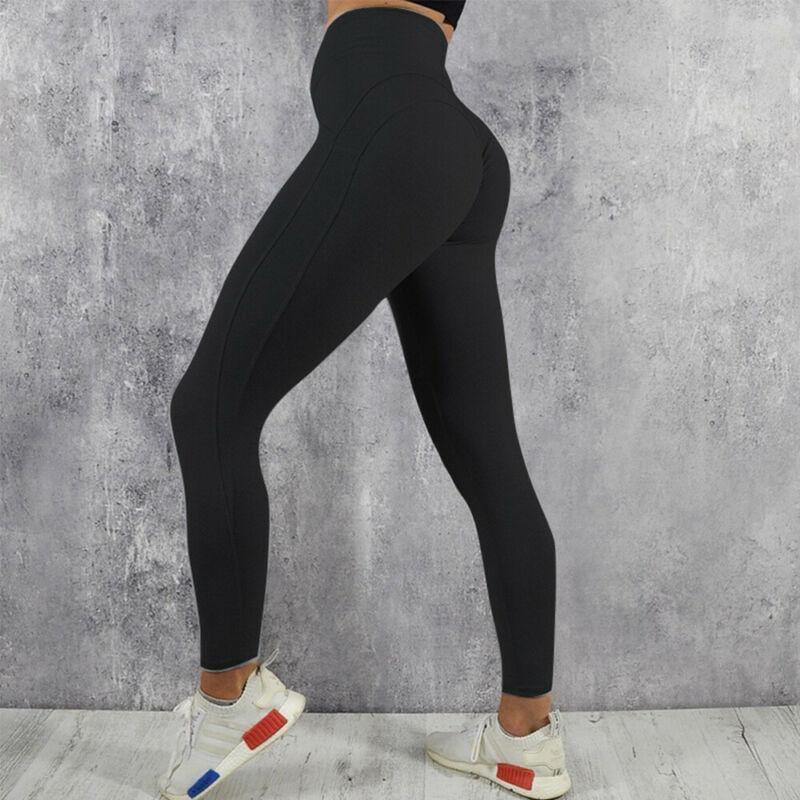 High Waisted Push Up Compression Leggings