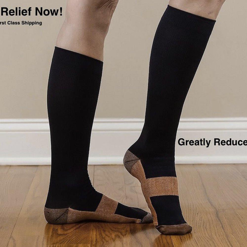 Relieve Pain From Legs With Copper Infused Compression Socks