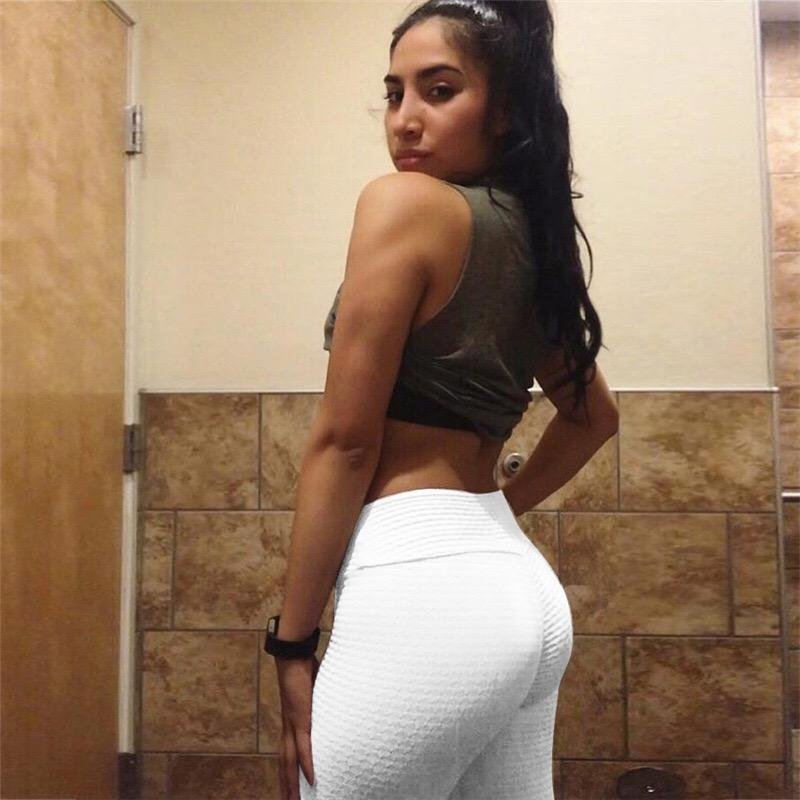 Anti-Cellulite High Waisted Textured White Leggings