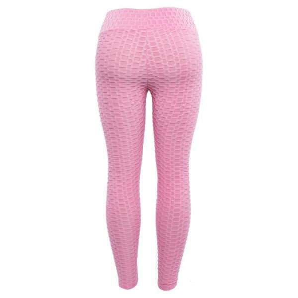 Anti-Cellulite High Waisted Textured Rose Velvet Leggings