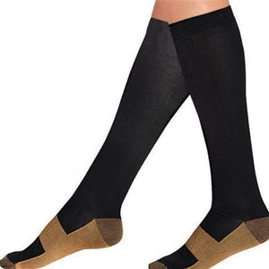 Compression Copper Socks providing just the right amount of comfortable compression for all day support