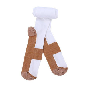 White Copper Infused Socks