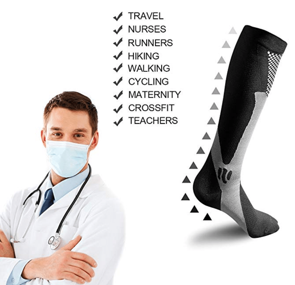 High Graduated Compression Socks 20-30mmHg (Pack of 2)