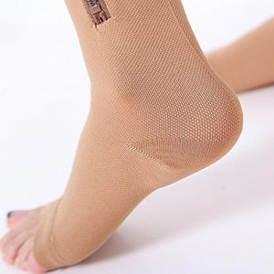 Open Toe Pain Relief Compression Socks With Zipper