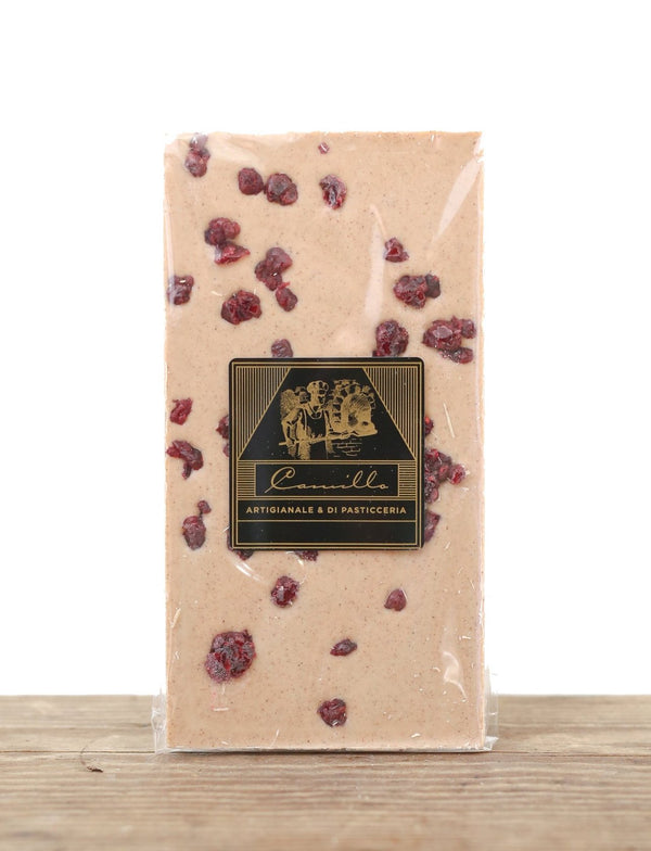 White Chocolate Bar with Cinnamon & Cranberry - Camillo