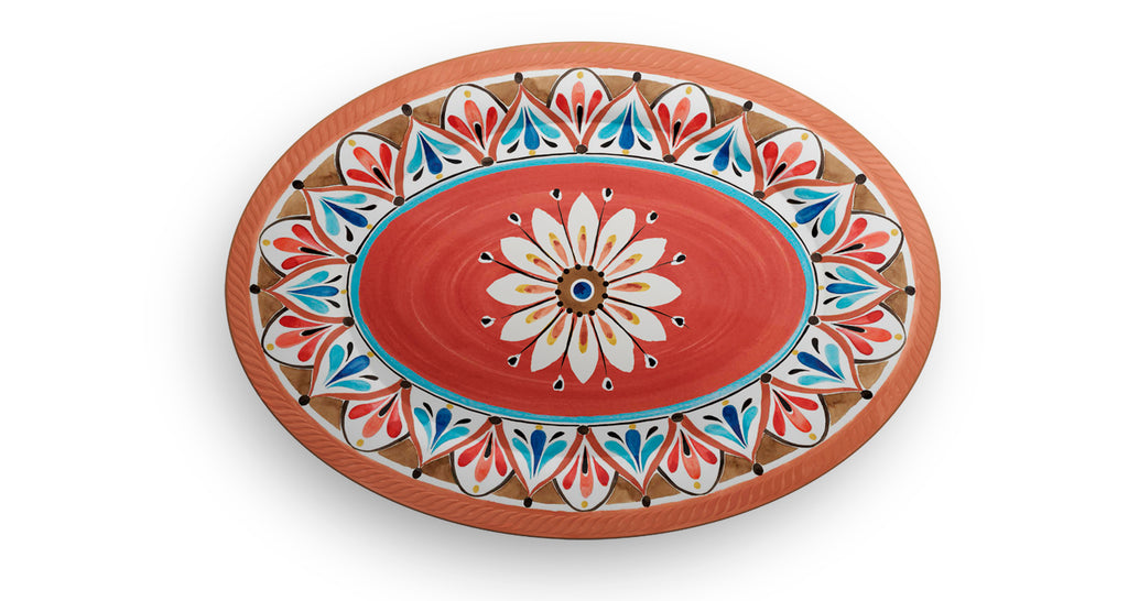 Melamine Oval Tray Madrid