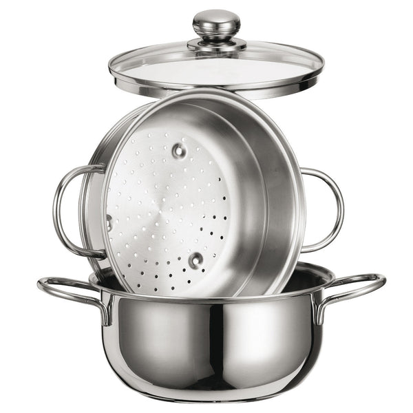Special Cooking Set Steamer 8 Inc With Glass Lid