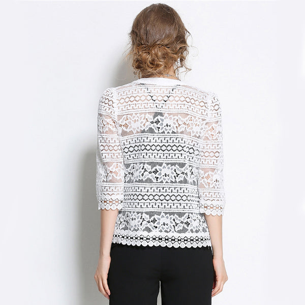 74023 White Lace Blouse