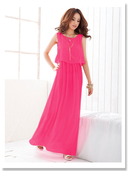 82966 Summer Fashion Party Chiffon Dress