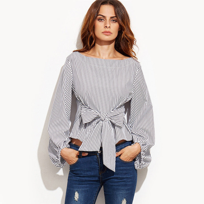 71125 Striped Long Sleeve Top