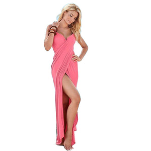 82765 Long Wrap Club Dress