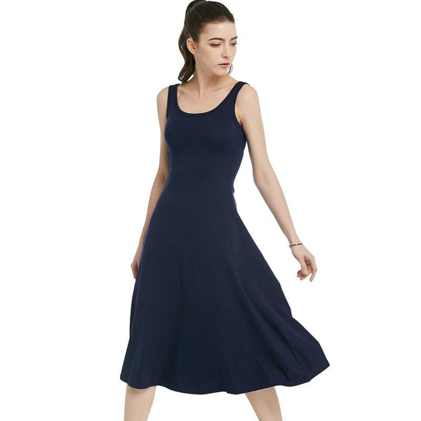 82253 High Waist Casual Summer Dress