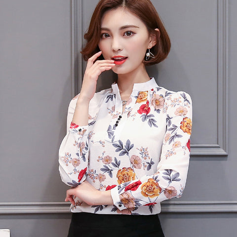 73665 Elegant V-Neck Blouse