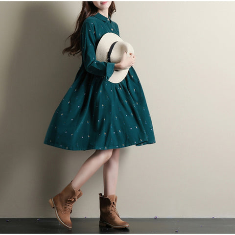82985 Autumn Long Sleeve Casual Dress
