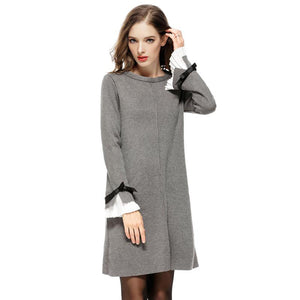 82357 European Casual Sweater Dress
