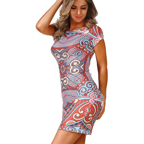 82668 Vintage Printed Party Dress