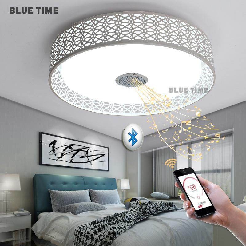 BLUE TIME SDFLED Store Intelligent modern Led chandelier Bluetooth Music lights
