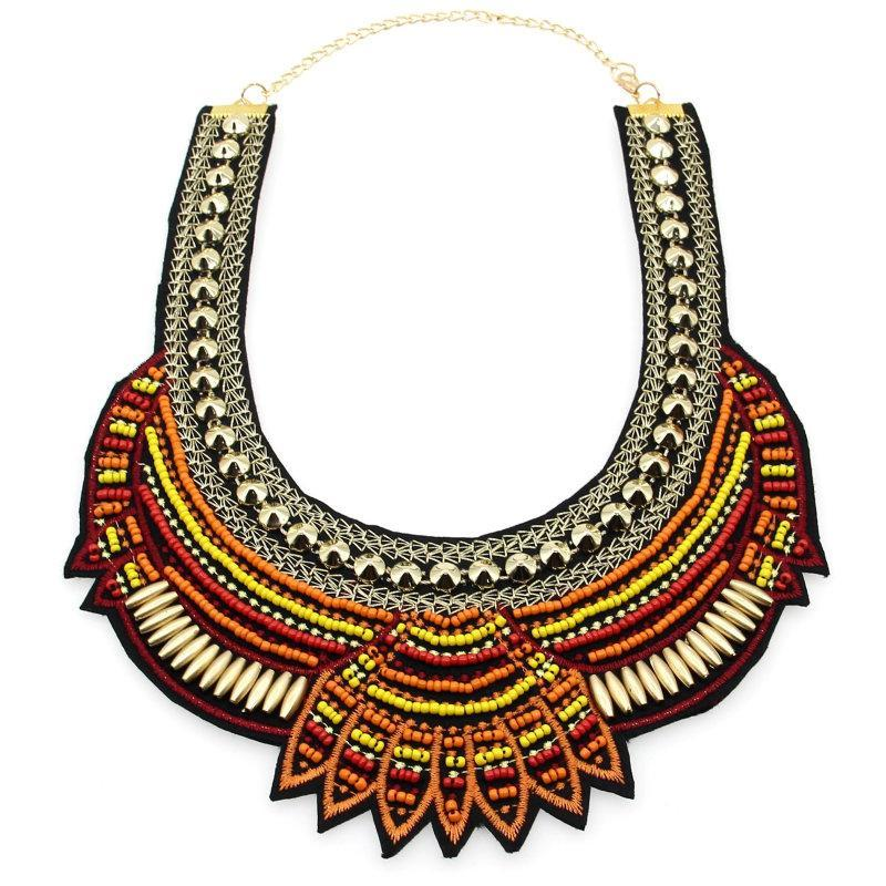 DU Deals Dr Choker Necklaces Ethnic Beads Boho Necklace