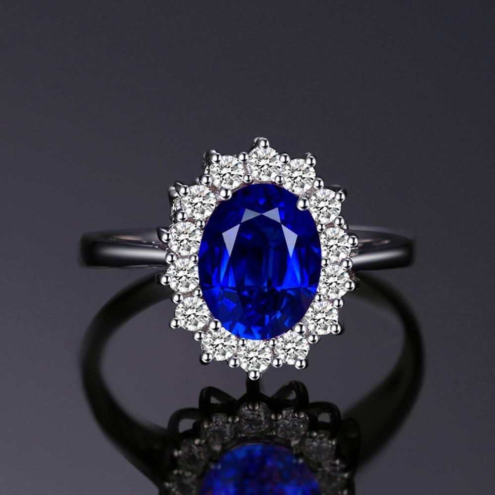 Du Deals Dr Rings Blue Sapphire Police Ring For Women