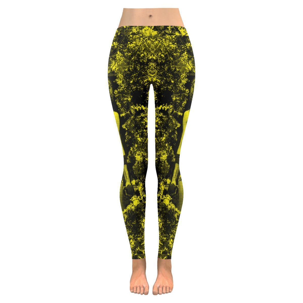 e-joyer Low Rise Leggings (Invisible Stitch) XXS Fitness Neon Yellow Low Rise Leggings