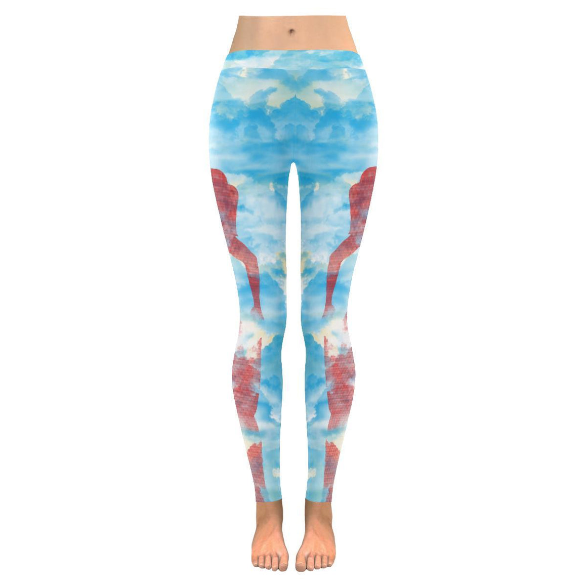 e-joyer Low Rise Leggings (Invisible Stitch) Yoga Sky Low Rise Leggings