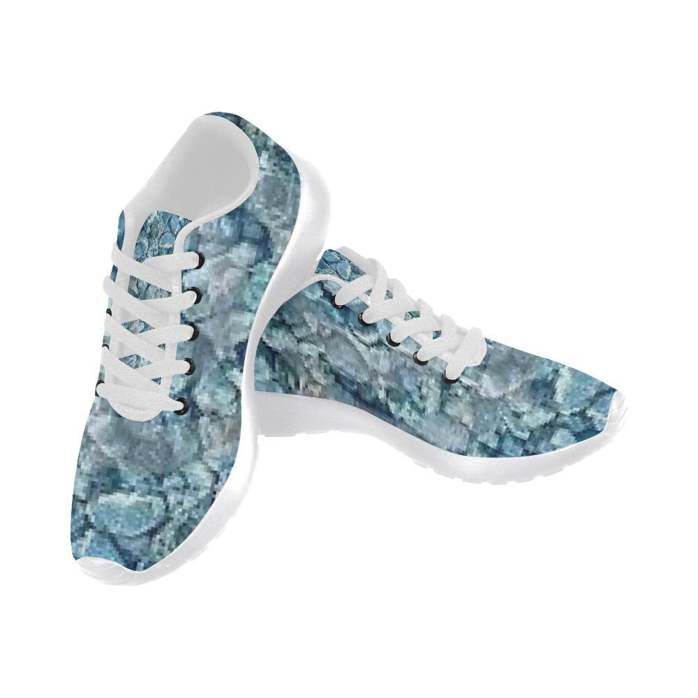 e-joyer Running Shoes (020) hamsa yoga blue pebble art Women's Running Shoes