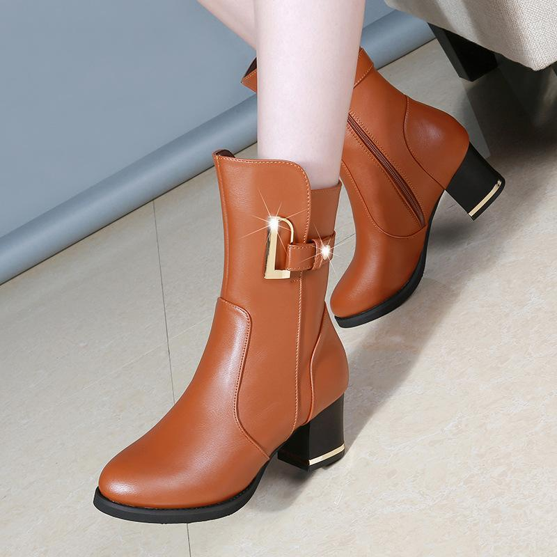 ce39cc47ef4f ... Fashion Brand Best Service Martina Gold Buck Ankle Boots ...