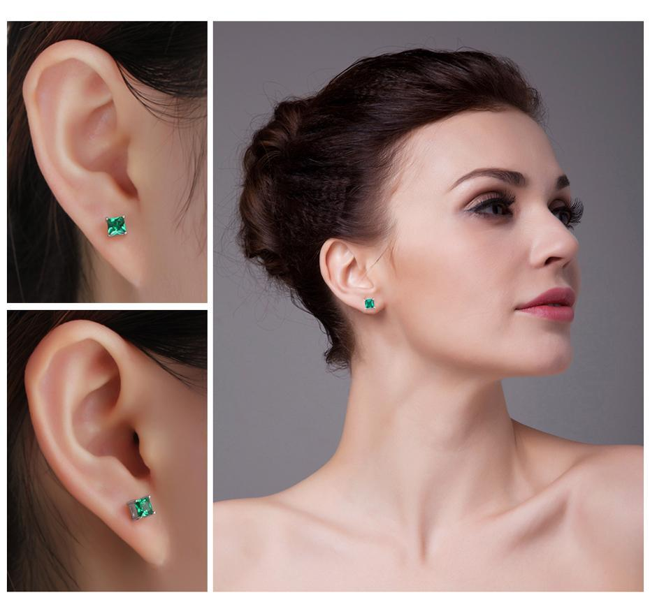 JewelryPalace Official Store Earrings Emerald Sterling silver Precious Jewellery