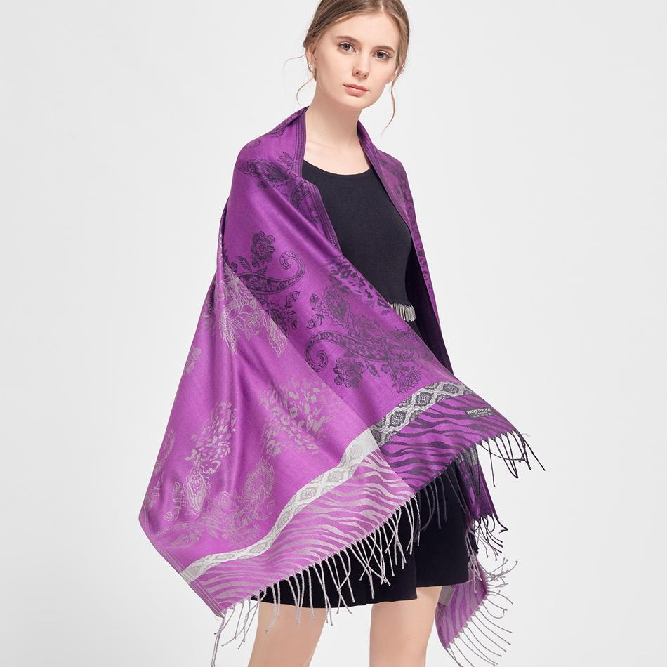 SAN VITALE Stylish Store Jesse Cashmere Silk Purple