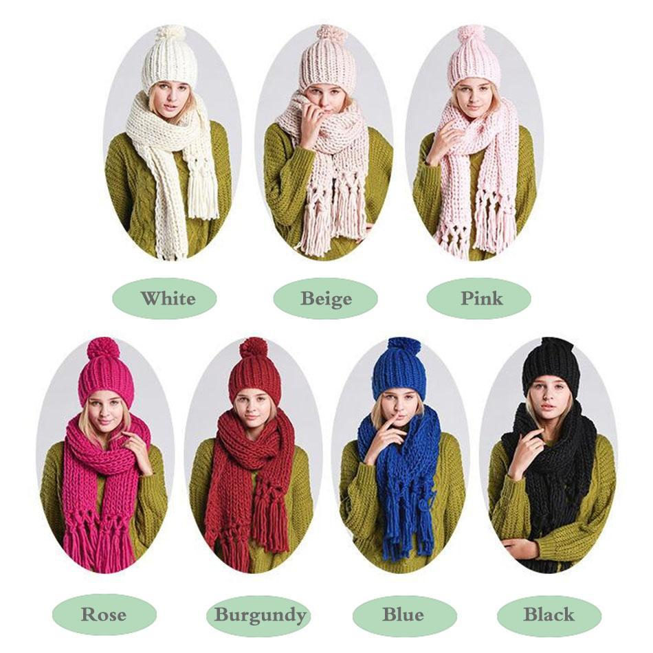 SAN VITALE Stylish Store Melia Scarf &Hat Set (7 Colours)