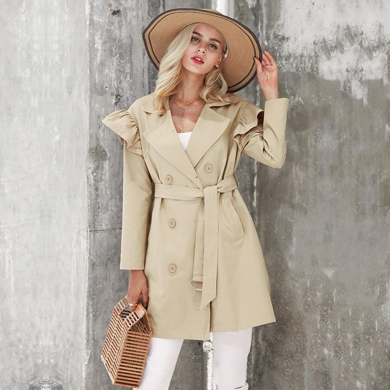 Simplee Apparel Elegant Trench Coat