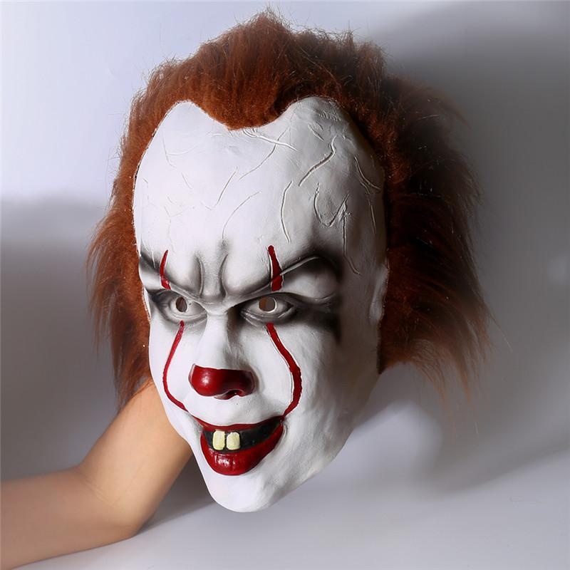 Takerlama KV-COS Store Halloween 2017 Movie Stephen King's It Pennywise Clown Joker Mask Tim Curry Horrible Mask Cosplay Halloween Party Prop Clown Mask Latex