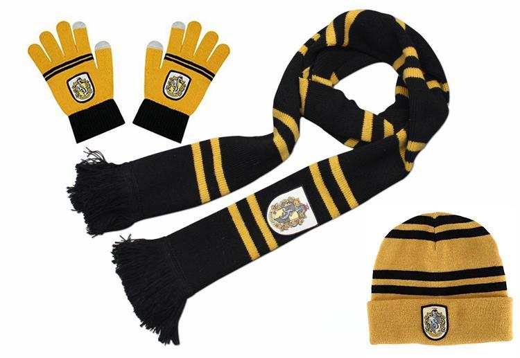 TOP ACG Halloween Harri Potter Scarf Scarves Hat Touch Gloves Gryffindor/Slytherin/Hufflepuff/Ravenclaw Scarves Hat Touch Gloves Harry's Scarf