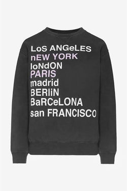 City Love Sweatshirt by Anine Bing - PRE ORDER Due mid to late August