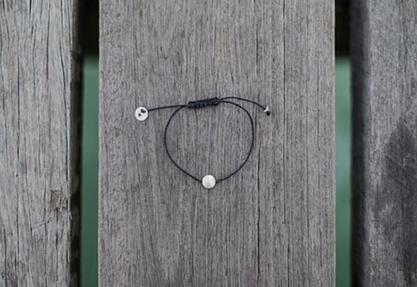 Once Was Lost Pebble Bracelet in Black