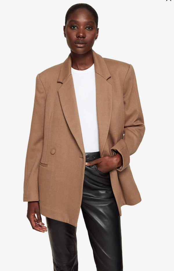 Kaia Blazer in Camel by Anine Bing
