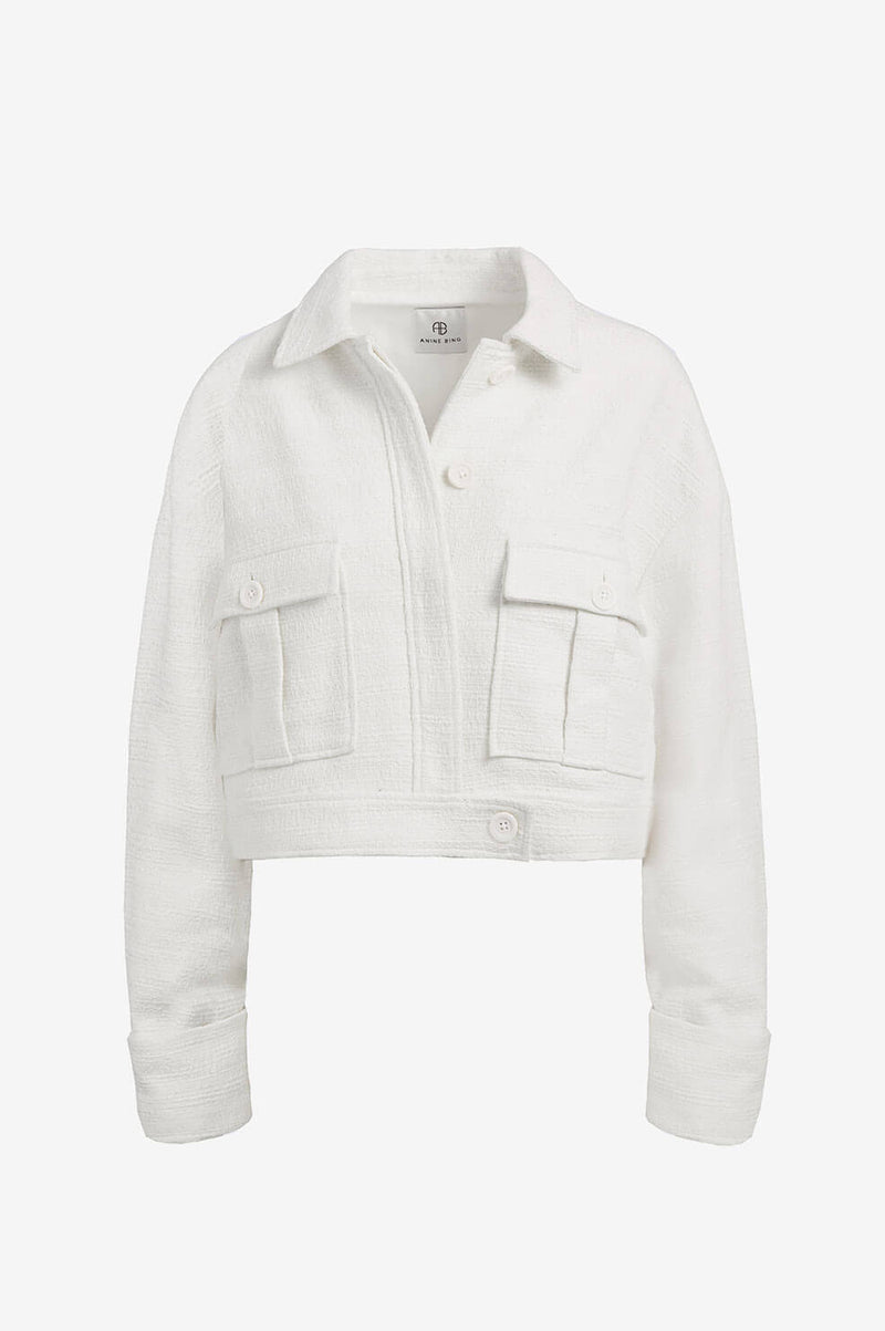 Adriana Jacket in Ivory by Anine Bing