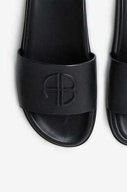 Carson Slides in black by Anine Bing