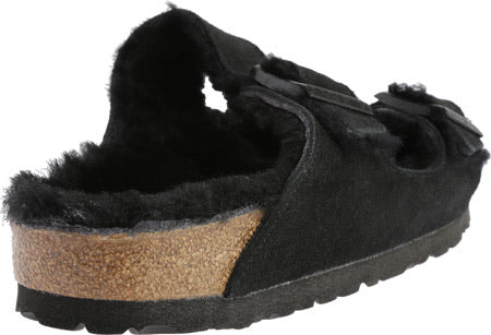Birkenstock Arizona Shearling Black Suede Leather