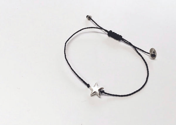 Once Was Lost Star Bracelet in Black