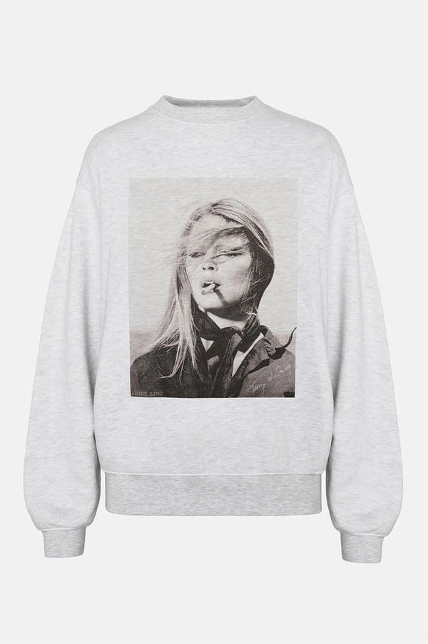 RAMONA SWEATSHIRT AB X TO in Heather Grey by Anine Bing