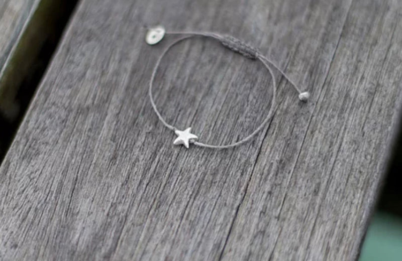Once Was Lost Star Bracelet in Grey