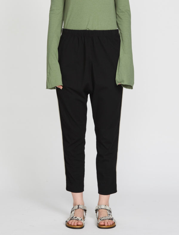 Panelled Slouch Double Jersey Pant