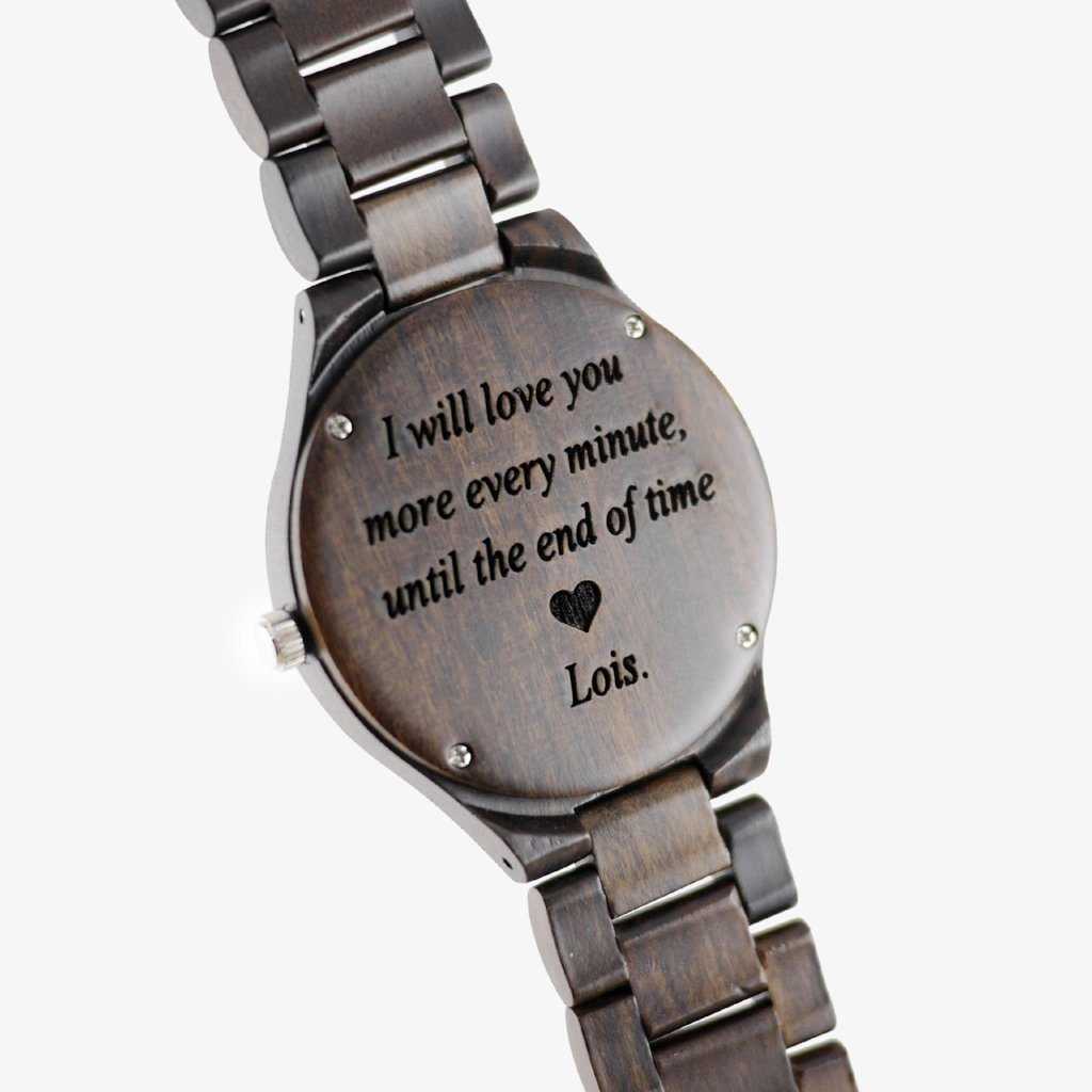 personalized wood watch