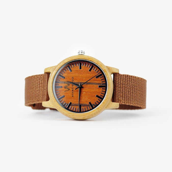 personalized bamboo wood watch